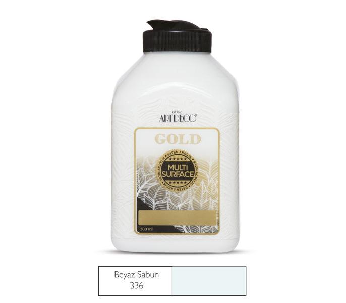 Artdeco Multisurface Gold Akrilik Boya 500 ml  Beyaz  340