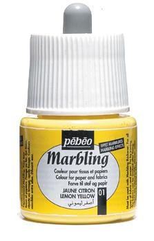 Pebeo 45 cc Marbling Ebru Boyası 01 Lemon