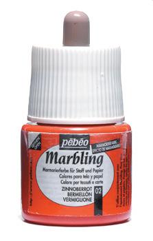 Pebeo 45 cc Marbling Ebru Boyası 02 Vermillion