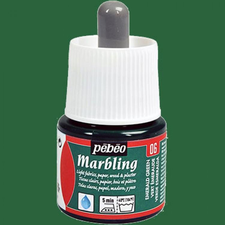 Pebeo 45 cc Marbling Ebru Boyası 06 Emerald Green