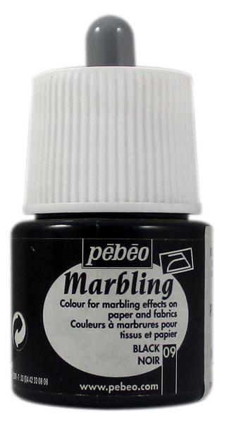 Pebeo 45 cc Marbling Ebru Boyası 09 Black