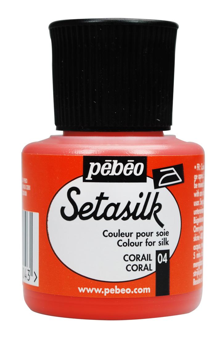 Pebeo Seta Silk 45 cc İpek Boyası 04 Coral