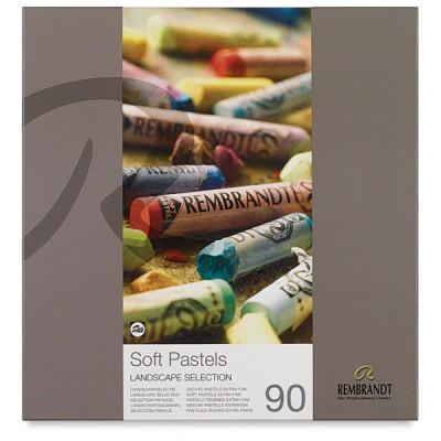 Rembrandt Soft PastelSet 90 Renk Landscape Manzara  Yarım Boy