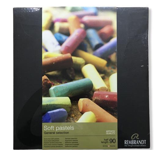 Rembrandt Soft Pastel Set 90 Renk Genel Renkler Yarım Boy