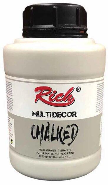 Rich Multidecor Chalked Akrilik Ahşap Boyası 1750 CC Granit   4600
