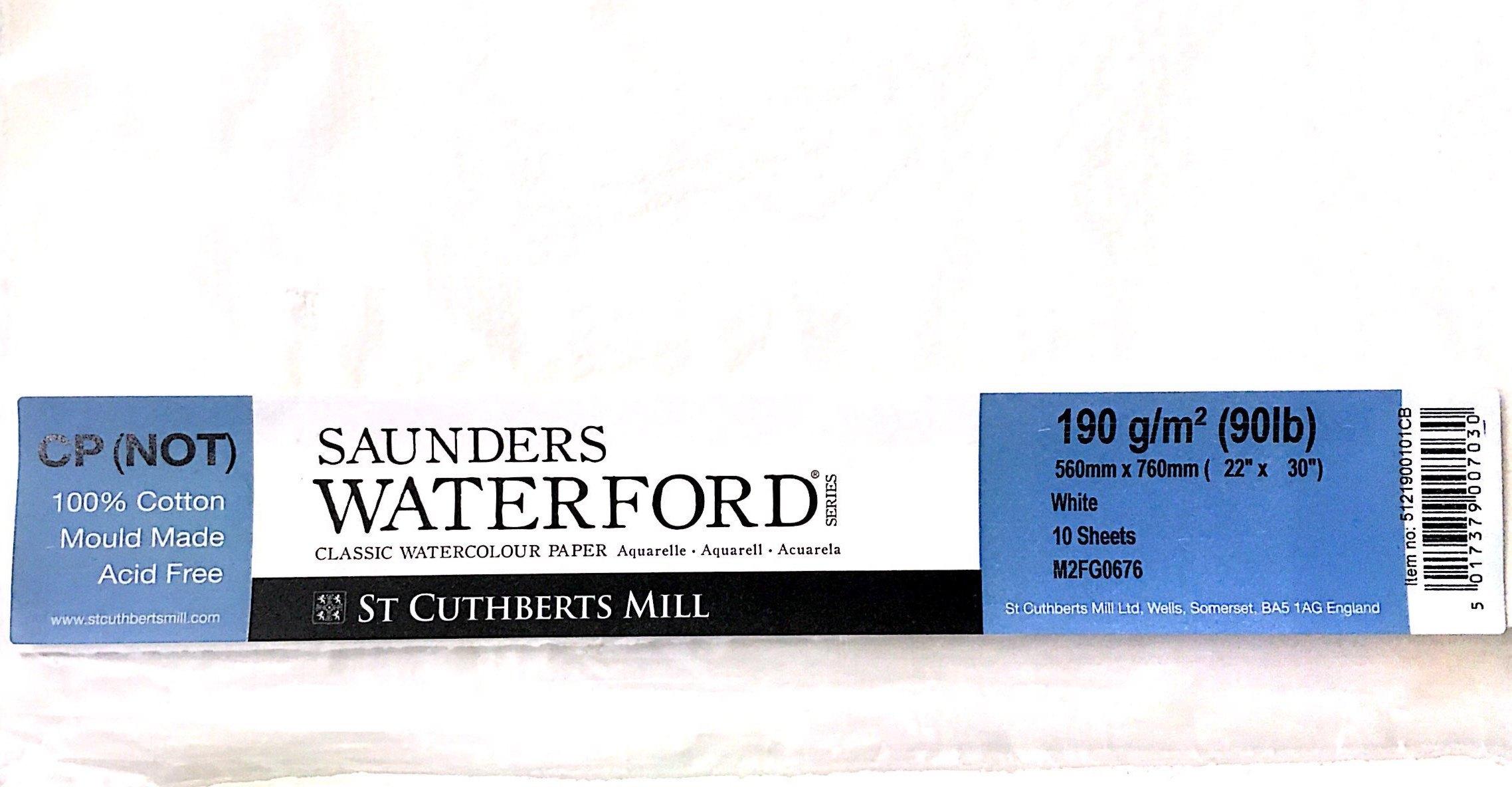 SAUNDERS WATERWORD  COLD PRES  190G 56*76 10 LU