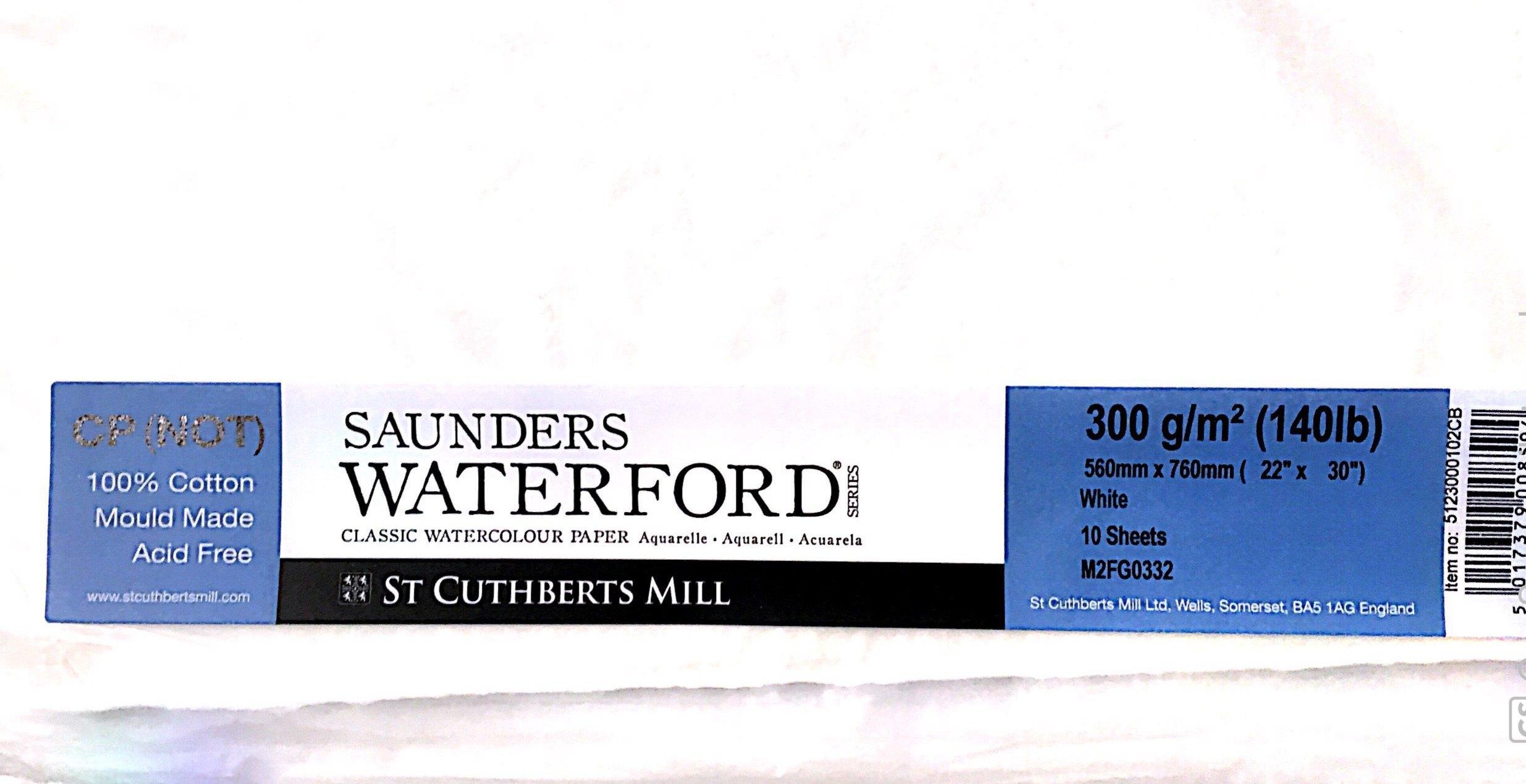 SAUNDERS WATERWORD COLD PRES 300G 56*76 10 LU