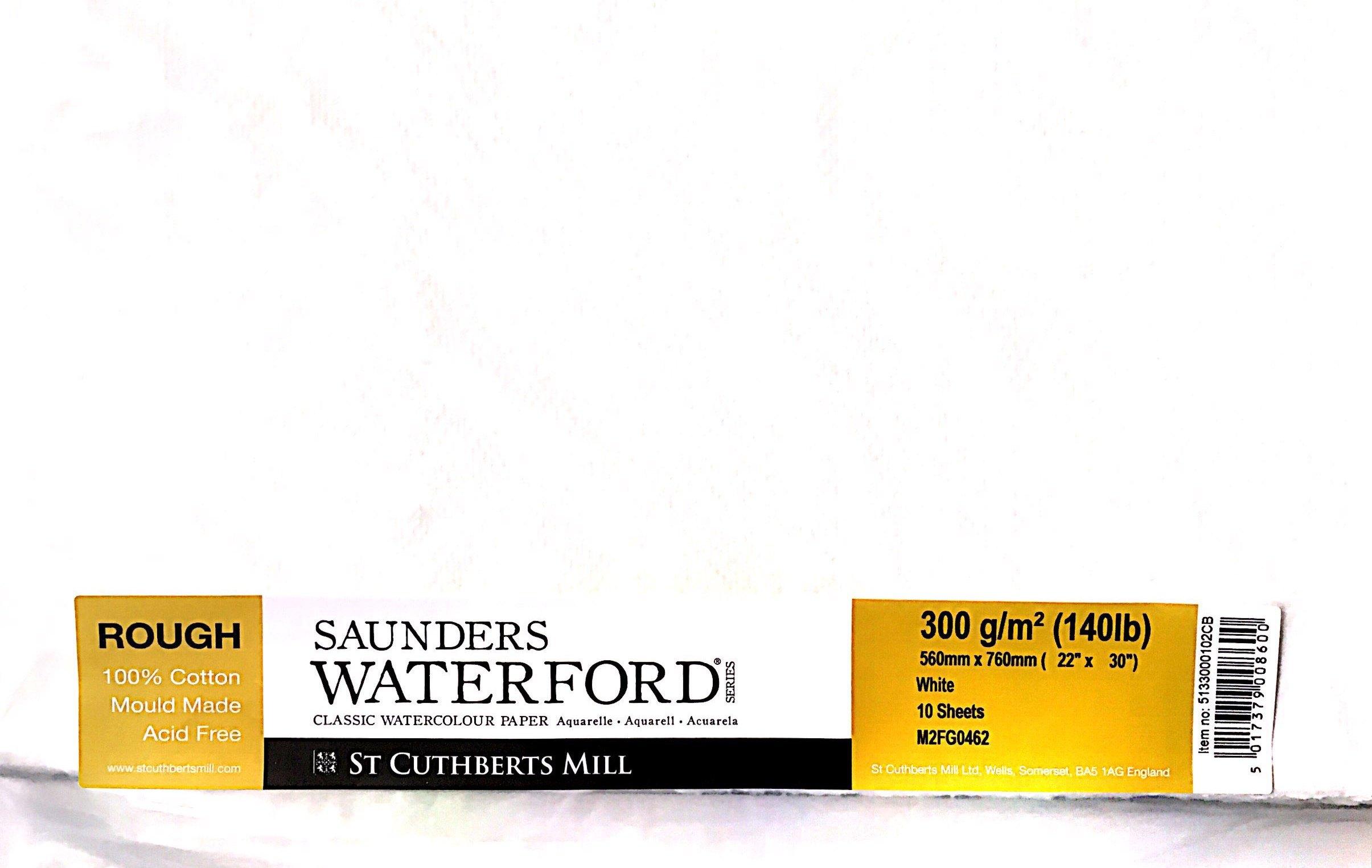 SAUNDERS WATERWORD ROUGH 300G 56*76 10 LU