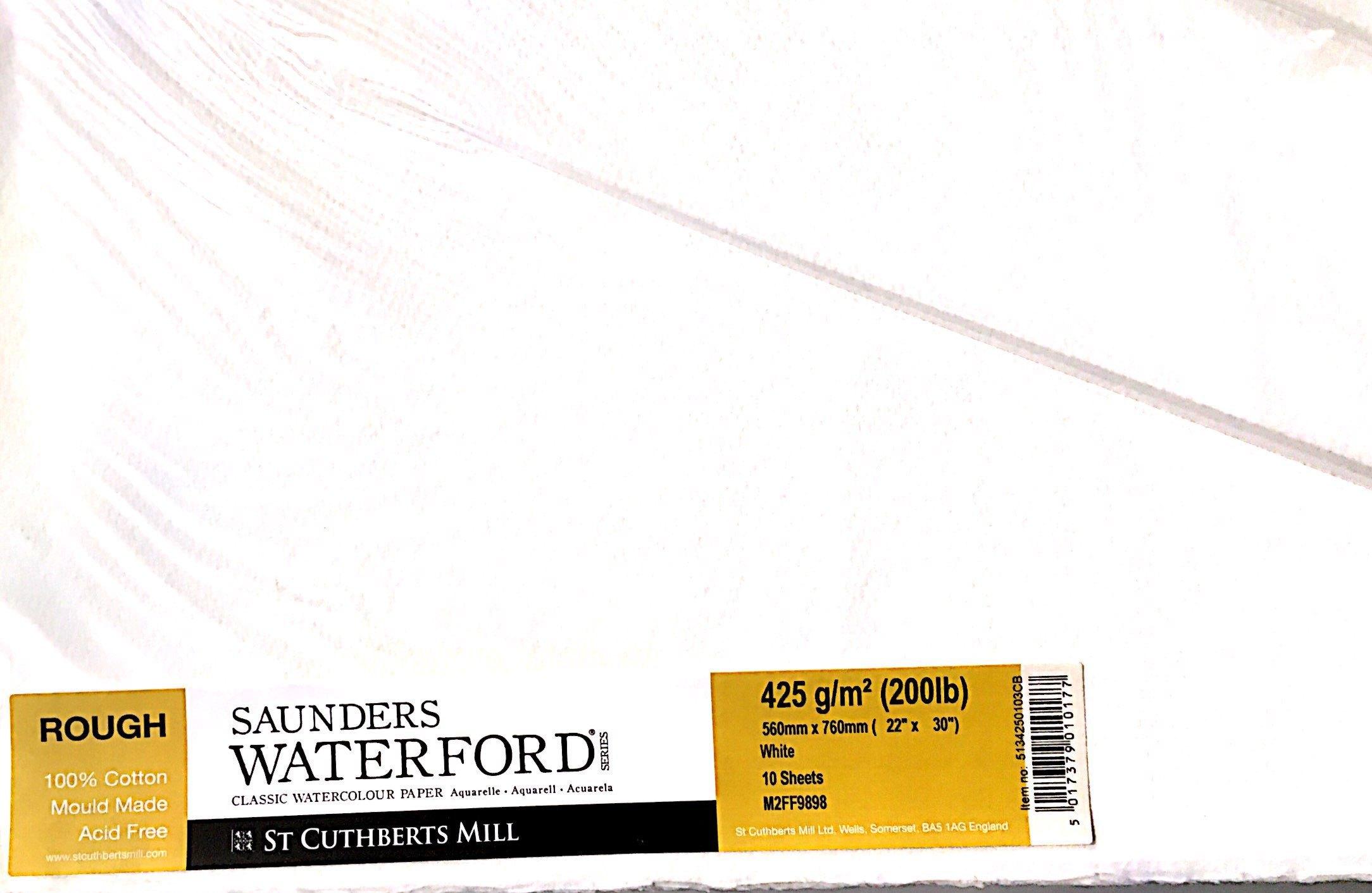 SAUNDERS WATERWORD 425G ROUGH  56*76 10 LU
