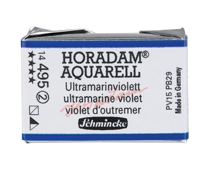 Schmincke Horadam Aquarell Artist Sulu Boya Tam Tablet Seri2 495 Ultramarine Violet