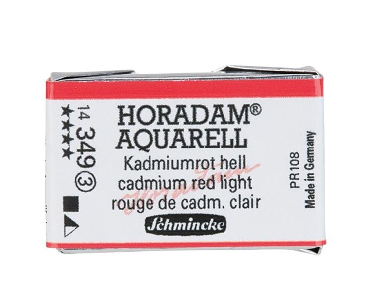 Schmincke Horadam Aquarell Artist Sulu Boya Tam Tablet Seri3 349 Cadmium Red Light