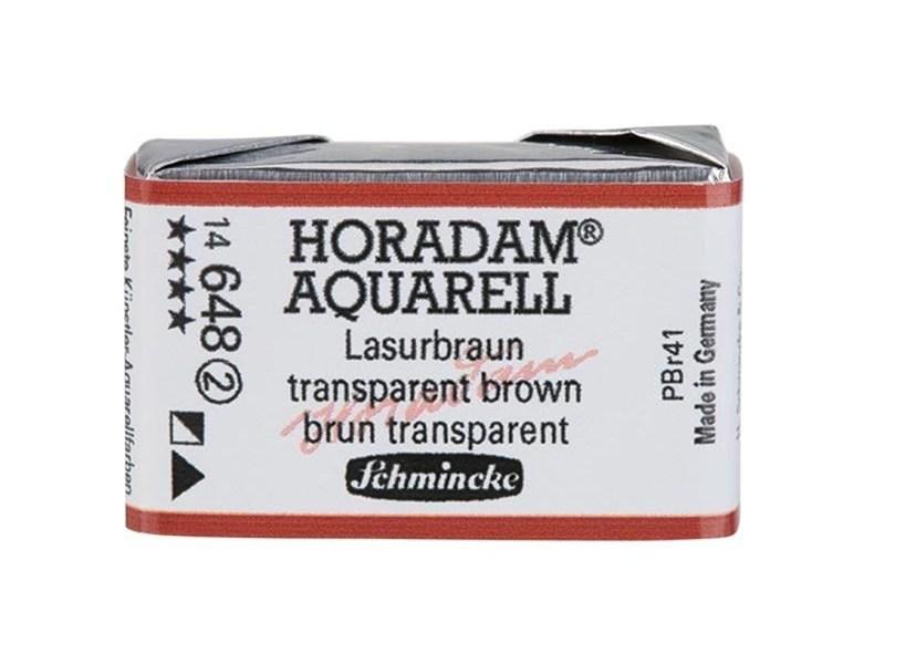Schmincke Horadam Aquarell Artist Sulu Boya Tam Tablet Seri2 648 Translucent Brown