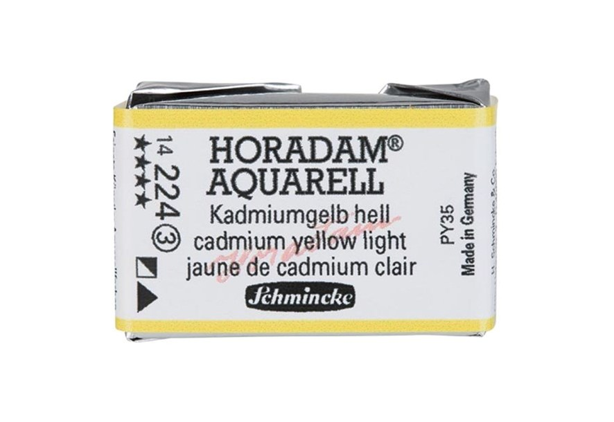 Schmincke Horadam Aquarell Artist Sulu Boya Tam Tablet Seri3 224 Cadmium Yellow Light