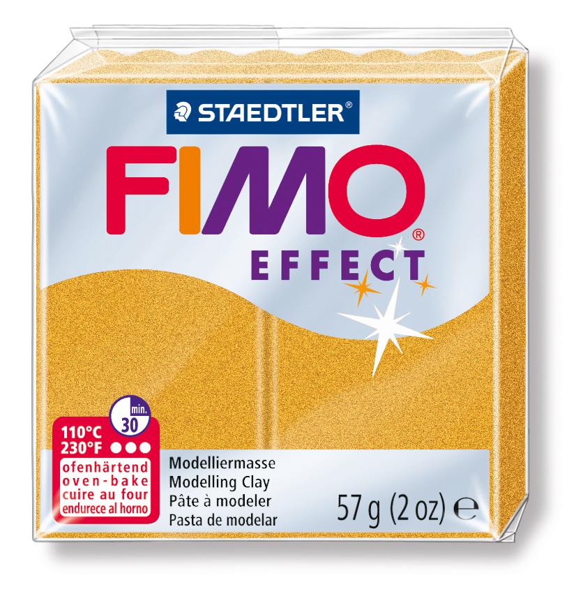 STAEDTLER FİMO EFFECT POLİMER KİL 57 GR  Metalik Altın  8020-11