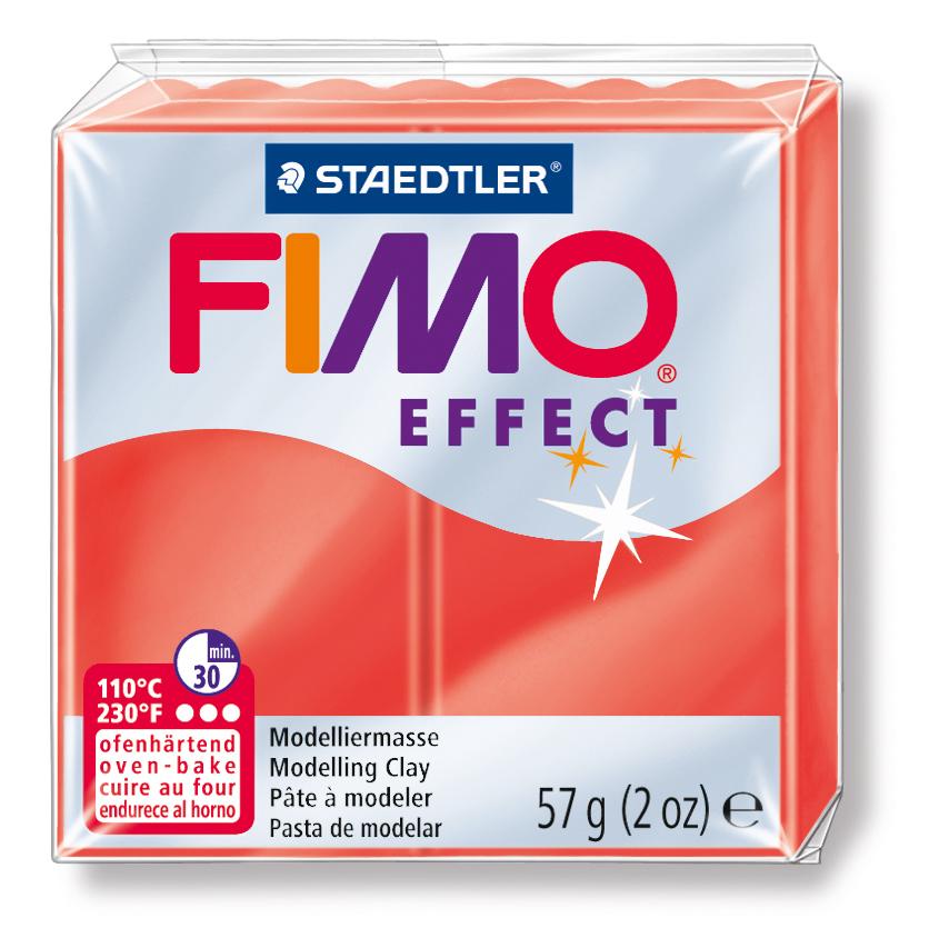 STAEDTLER FİMO EFFECT POLİMER KİL 57    Şeffaf Kırmızı  8020-204