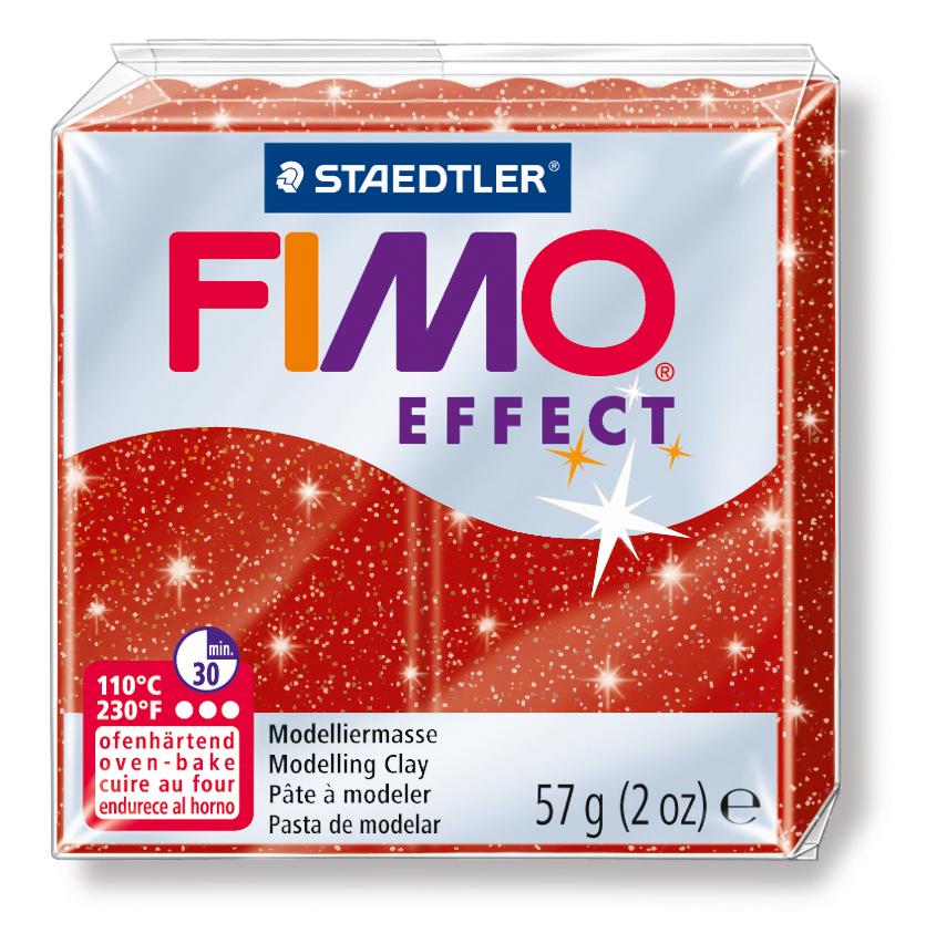 STAEDTLER FİMO EFFECT POLİMER KİL 57   Yaldızlı kırmızı  8020-202