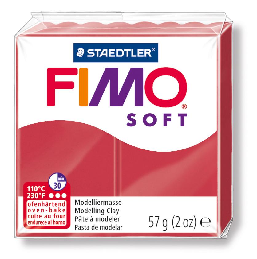 Staedtler Fimo Soft Polimer Kil 57 GR. Cherry Red 8020-26