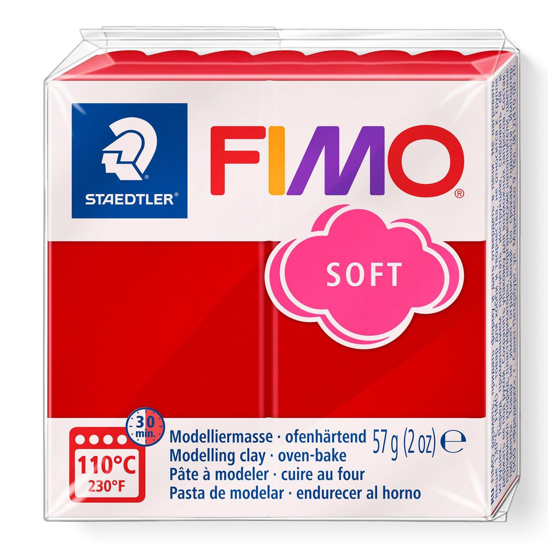 Staedtler Fimo Soft  Polimer Kil 57 GR. Noel Kırmızı 8020-2P