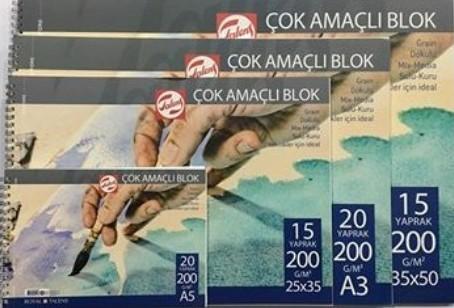 TALENS ÇOK AMAÇLI RESİM BLOKLARI 200GR 35x50 15YP