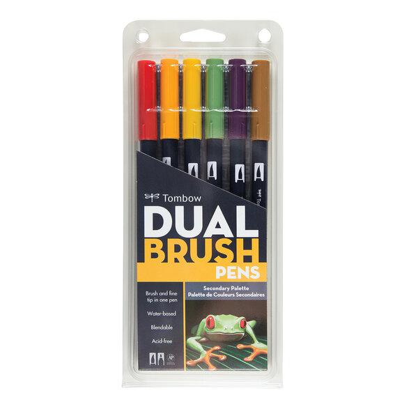 Tombow AB-T Brush Pen Ara Renkler Seti (6 renk) 163
