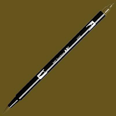 TOMBOW AB-T DUAL PEN BRUSH MARKER Dark Ochre 027