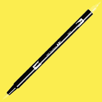 TOMBOW AB-T DUAL PEN BRUSH MARKER Pale Yellow 062