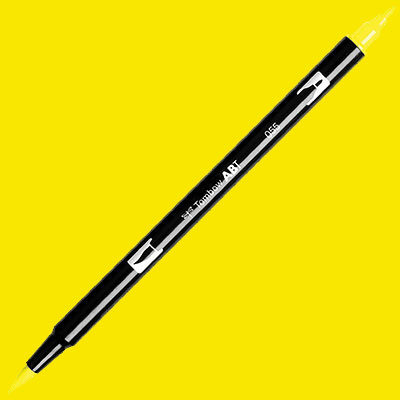 TOMBOW AB-T DUAL PEN BRUSH MARKER Process Yellow 055