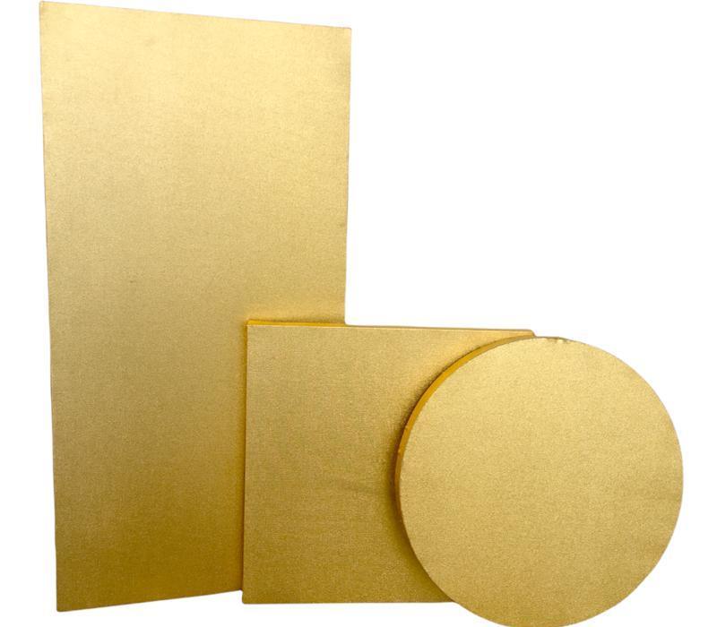 Tuval Altın Renk Astarlı Yuvarlak Çap 20 cm