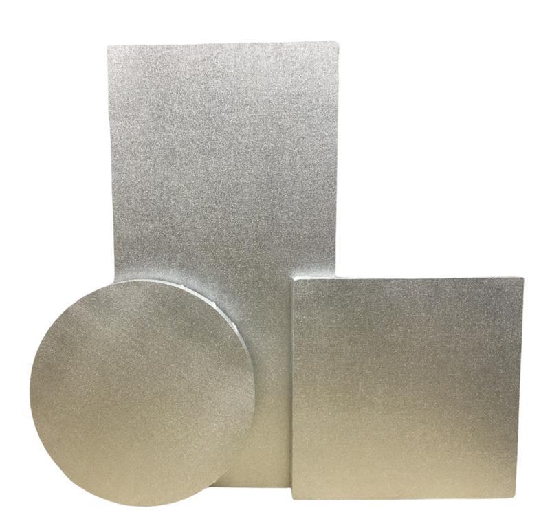 Tuval Gümüş  Renk Astarlı Yuvarlak Çap 20 cm