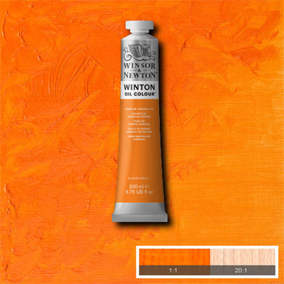 Winsor & Newton Winton Yağlı Boya 200ml Cadmium Orange Hue 090 (4)