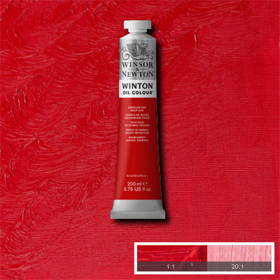 Winsor & Newton Winton Yağlı Boya 200ml Cadmium Red Deep Hue 098 (6)