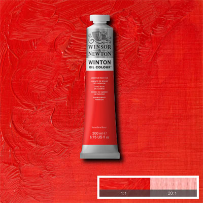 Winsor & Newton Winton Yağlı Boya 200ml Cadmium Red Hue 095 (5)