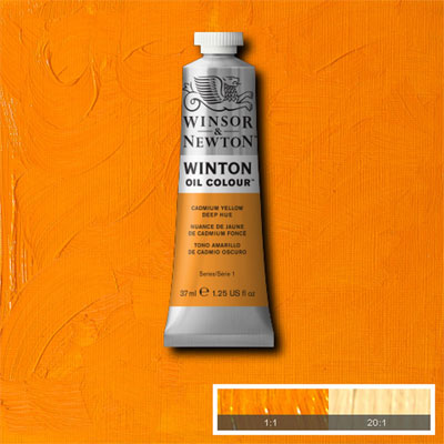 Winsor & Newton Winton Yağlı Boya 200ml Cadmium Yellow Deep Hue 115 (46)