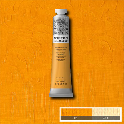 Winsor & Newton Winton Yağlı Boya 200ml Cadmium Yellow Hue 109 (9)