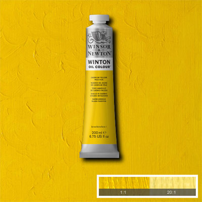 Winsor & Newton Winton Yağlı Boya 200ml Cadmium Yellow Pale Hue 119 (8)