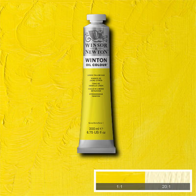 Winsor & Newton Winton Yağlı Boya 200ml Lemon Yellow Hue 346 (26)