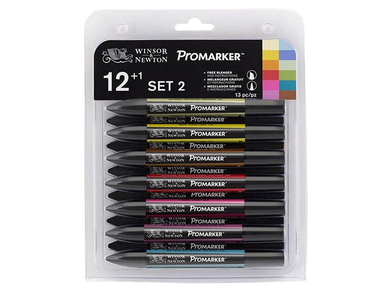 WN Promarker Set 2 (12 renk+karıştırıcı)