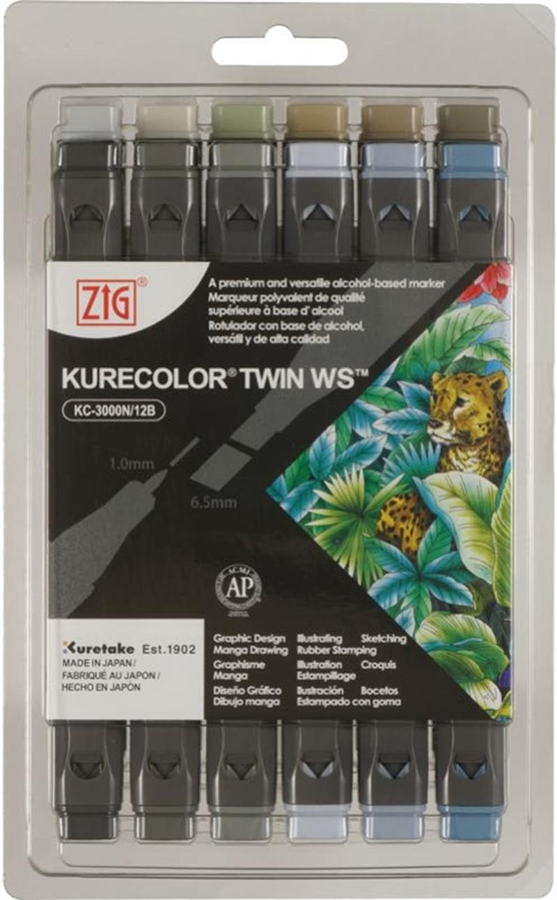 ZIG KURECOLOR TWIN S KC-3000/12B7 GRAY COLORS
